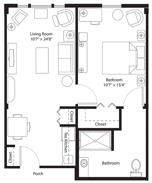 Assisted Living Floorplan